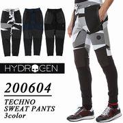 【激安!】HYDROGEN ハイドロゲン 切り替え バイカースウェットパンツ<ラスト1点>