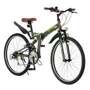 (価格変更)Raychell  折りたたみ自転車 R-314N【オリーブ】品番17075【代引不可】