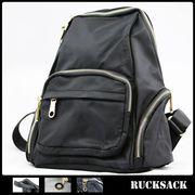 リュック 鞄 リュックサック 黒 ブラック サイドポケット レディース メンズ