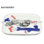 【マリメッコ】  68853 153 食器 パッカネン プレート 12×15cm ホワイト/ブルー/レッド