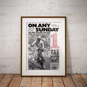 【ブルース・ブラウンフィルム】A3ポスター・On Any Sunday(オン・エニー・サンデイ)・モノ2