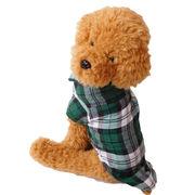 チャック柄 シャツ 犬の服 ドッグウェア 犬服 前ボタン