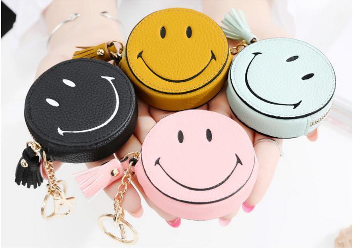 [即納]コインケース キーホルダー ニコちゃん スマイル タッセル バッグチャーム 小銭入れ 笑顔