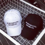 ベースボールキャップ/帽子/ベーシックキャップ/英文字/刺繍/シンプル/カーブキャップ/トレンド
