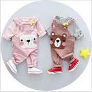 ストラップ 2018 春 新しい 子供服 工場 直接販売 クマのタオル 刺繍 デザイン