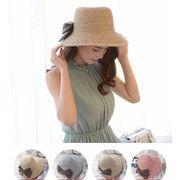 UVハット UV 紫外線対策 帽子 レディース つば広 キャペリン 麦わら帽子 女優帽