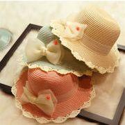 ★春夏新作★ 麦わら帽子 紫外線対策 子供用 UVカット 麦わらハット 帽子 キッズ 可愛い
