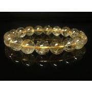 【写真現物一点物】 ゴールドタイチンルチルブレスレット 金針水晶数珠 11ミリ Rx41 開運招来