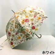 【晴雨兼用】【長傘】UVカット率99%!ボタニカルガーデン柄大寸晴雨兼用ジャンプ傘