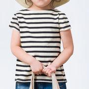 キッズ マリンボーダーボートネック半袖Tシャツ