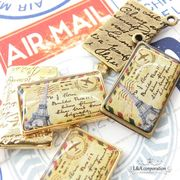 "▼SALE▼★L&A Original charm★K16GP&金古美★レトロでリアルな ""Air Mail""105"
