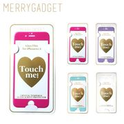 【MERRYGADGET】 glass screen protecter /iPhone7 6S 6 ラメ入り ガラスフィルム (全4色)