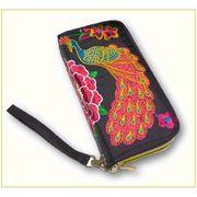 モン族刺繍財布(Wファスナー)1101296