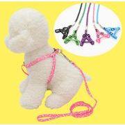 ペット用品 犬用 紐 胸背 多色 ランダム発送 幅1.0/1.5/2.0cm 牽引ロープ ペットグッズ