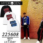 ◇2018春夏新作◇HYDROGEN ハイドロゲン メンズ センターロゴ 長袖Tシャツ ロンT<3カラー>