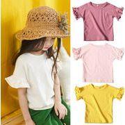 子供 Tシャツ キッズ ブラウス  トップス ファション シンプル 全4色