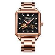 送料無料 OB メンズ スケルトン ビジネス 自動巻き 腕時計 ob-13