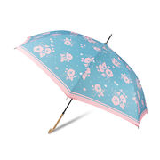 [58cm]傘 婦人傘 ジャンプ傘 レディース あさがお柄