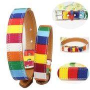 ペット用品 犬用 散歩 首輪/牽引ロープ 虹色 pu+布 ペットグッズ 小型犬から大型犬まで