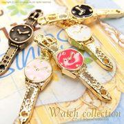 """▼SALE▼★L&A Original charm★うで時計のかわいいカラーコネクター★K16GP&金古美★♪113""""watch"""""""