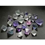 フローライト 八面体 原石 100g量り売り マルチカラーフローライト 蛍石 結晶 Fluorite