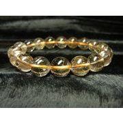 【現品一点物】 オレンジルチルブレスレット 金針水晶数珠 11-12ミリ 37g Or5