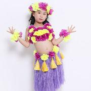格安!手作り★子供フラダンス衣装★リストバンド★造花★花輪★ヘッドドレス★レイ★ベアトップ+スカート
