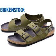 S) 【ビルケンシュトック】 1011399 ミラノ サンダル コンフォート 靴 カーキ メンズ&レディース