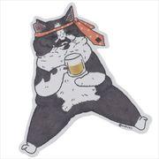 《コレクション》世にも不思議な猫世界 クロス素材ステッカー/くまおさん KORIRI