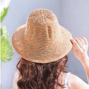 レディース麦わら帽子 7色 折り畳め 収納便利 夏定番 ハット UV対策 日よけ オシャレ