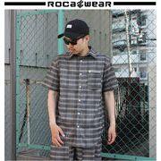 2018 春★ROCAWEAR★ロカウェア メンズ ネル グレンチェック シャツ