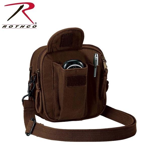 ROTHCO ロスコ キャンバス 多機能ポケット ミニショルダーバッグ 全3色 USA直輸入モデル