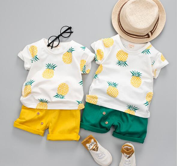 子供服 夏 セットアップ Tシャツ+パンツ 男の子 女の子 2点セット カジュアル系
