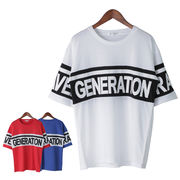 【2018SS新作】 メンズ 切替ロゴプリント BIG Tシャツ