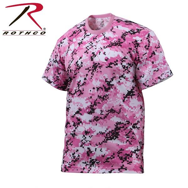 ROTHCO ロスコ 迷彩柄 半袖 Tシャツ ピンク・カモフラージュ柄 USA アメリカ直輸入 ミリタリーTシャツ
