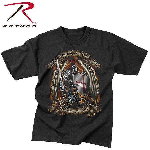 ROTHCO ロスコ グラフィックプリント Tシャツ ブラックインク アーマー・オブ・ゴッド  USA アメリカ直輸入