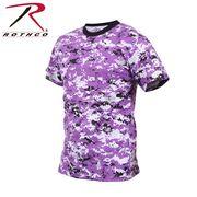 ROTHCO ロスコ 迷彩柄 半袖 Tシャツ バイオレット・カモフラージュ柄 USA アメリカ直輸入
