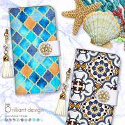 iPhone 7 8 X 手帳型 スマホケース パール タッセル モロッコ モロッカン 西海岸 ブランド