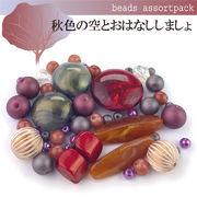 ビーズ アソート パック007【秋色の空とおはなししましょ】モダンビーズ/パーツ/ハンドメイド