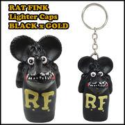 ラットフィンク ライターキャップ 【別注カラー】【BLACK x GOLD】