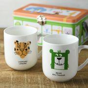 【特価品】【箱入り】ペアマグカップセット(BEAR&LEOPARD)[B品]