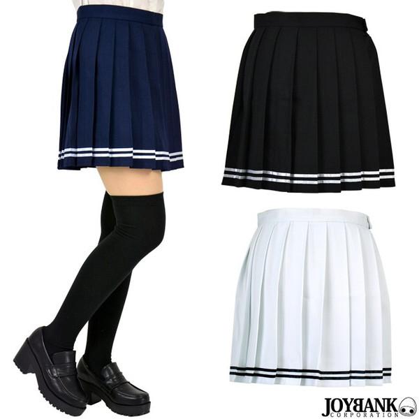 【決算セール】 プリーツスカート ダブルライン 制服コスプレ 3色