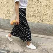 春夏 新しいデザイン 何でも似合う 若いもの ポルカドット スカート 女 韓国風 学生