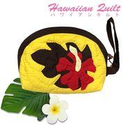 ハワイアンキルト Hawaiian Quilt  ハイビスカス ポーチ