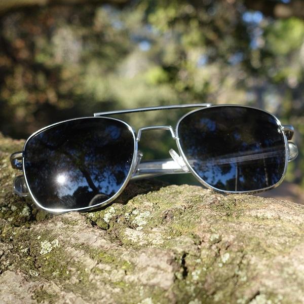 HUMVEE ハンヴィー パイロットサングラス レンズ大きめ 57mm 直線型バヨネット 偏光サングラス