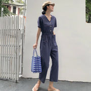 韓国風 風 何でも似合う レジャー ツーリング シャムズボン 女 夏 新しいデザイン さ