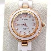 催事・イベント向け商品 腕時計 LONGBO レディースウオッチ ホワイト セラミック