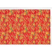 アカバナ柄紅型和紙(似紅・金線)