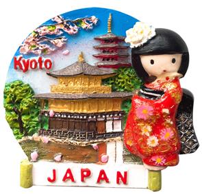 お土産JAPANマグネット なっちゃん金閣寺 《外国人観光客向け日本土産》