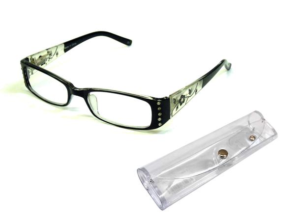 【シニアグラス(老眼鏡)】セルフレーム(ケース付き)[306col.1]
